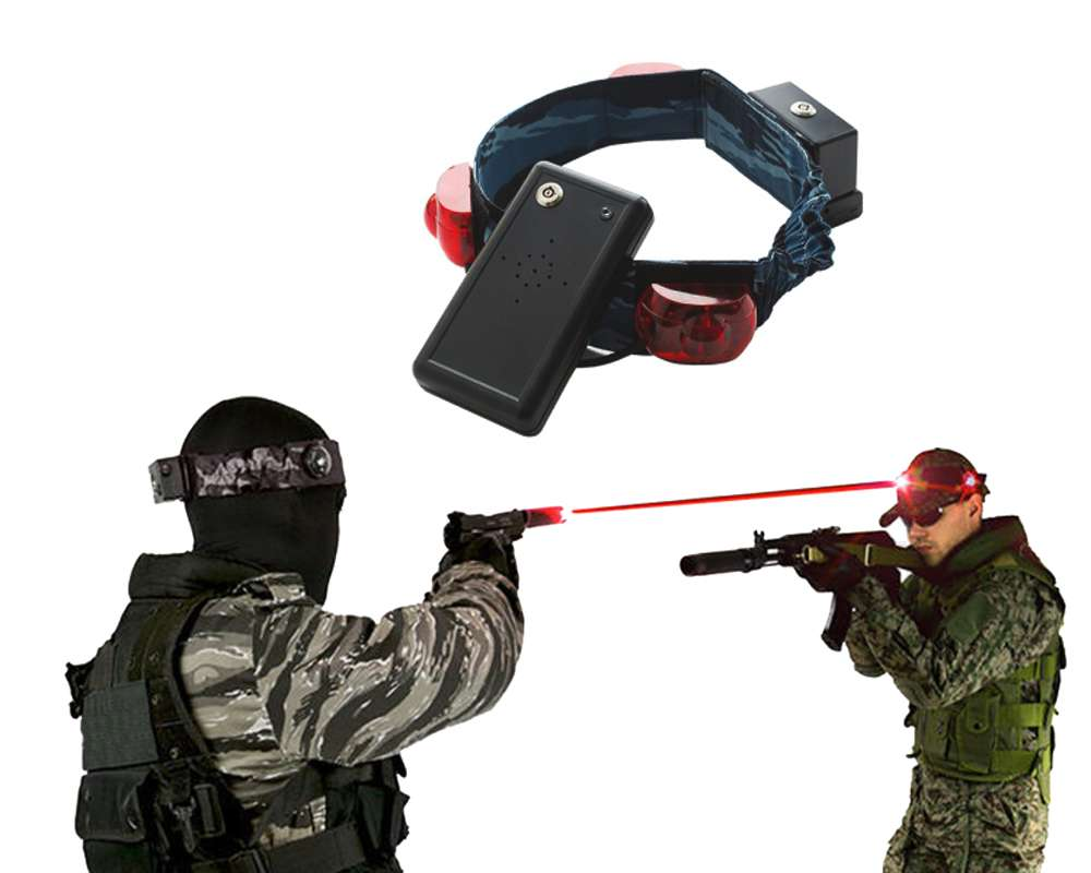Пов'язка на голову з датчиком ураження для лазертаг